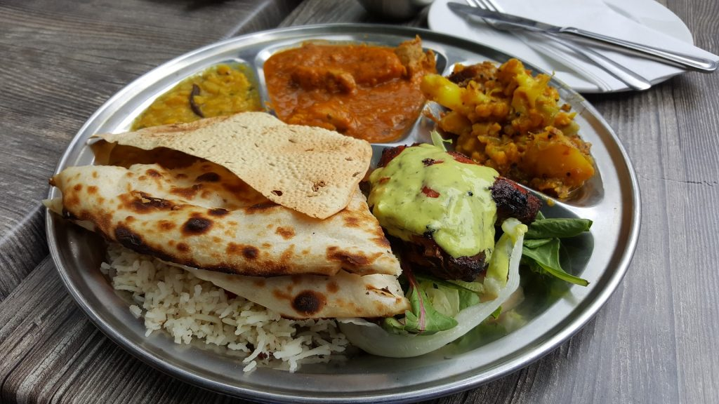 An example of a dish of healthy food from the best Glasgow Indian restaurants.
