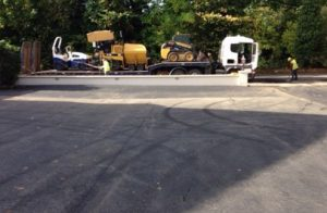 a tarmac company has finished work on a job