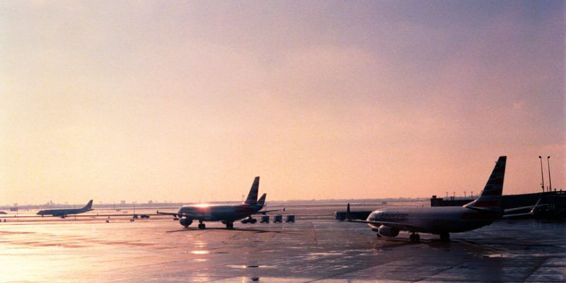 Jets lined up on runway